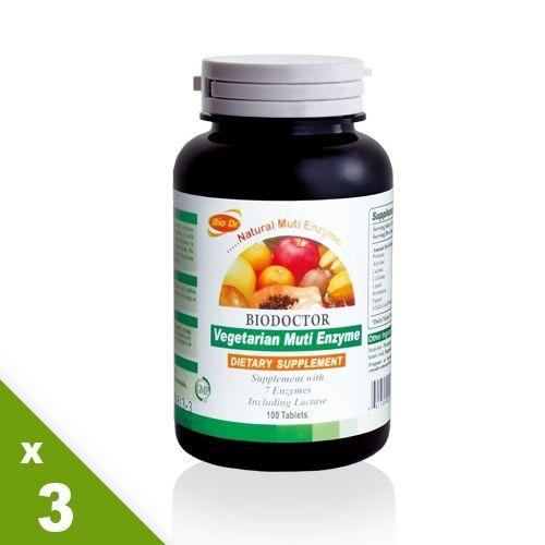 【營養補力】消化迅速有效 天然素食酵素錠3入
