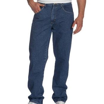 Wrangler 藍哥男耐磨休閒合身古藍色牛仔褲