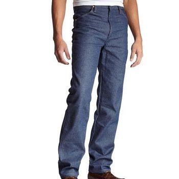 Wrangler 藍哥男時尚合身古藍色牛仔褲