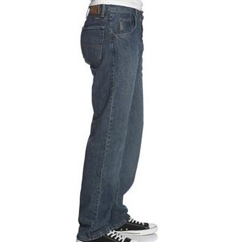 Wrangler 藍哥男品味寬鬆灰中藍色牛仔褲