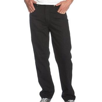 Wrangler 藍哥男耐磨休閒黑色牛仔褲