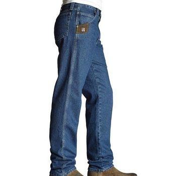Wrangler 藍哥男休閒寬鬆復古靛藍牛仔褲