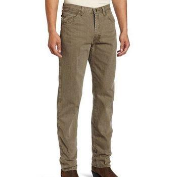 Wrangler 藍哥男品味時尚耐磨橄欖色牛仔褲