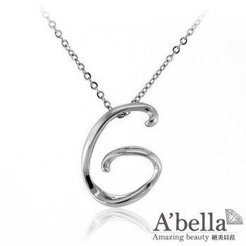 A'bella【字言字語】字母白鋼墬鍊(G)