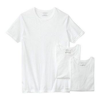 EMPORIO ARMANI 男時尚永恆圓領白色內衣3件組