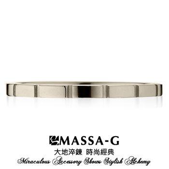 MASSA-G DECO系列 M05純鈦戒指-銀