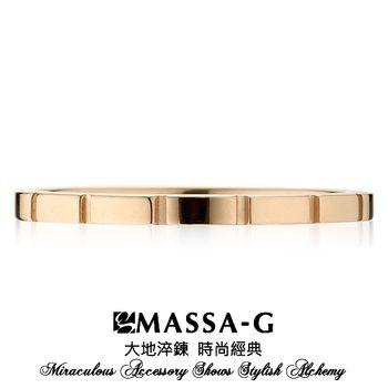 MASSA-G DECO系列 M05純鈦戒指-玫瑰金
