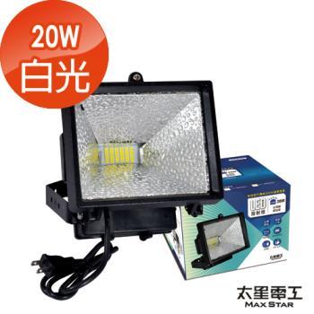 【太星電工】 LED室外防水20W投射燈WD820(白/黃光)