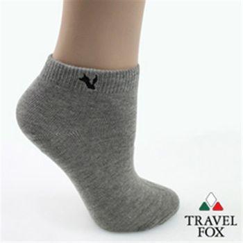 【Travel Fox】(女) 粉彩小狐狸休閒裸短襪 - 人緣灰