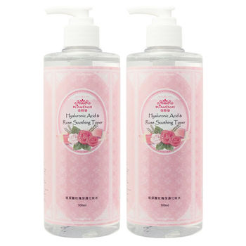 KilaDoll玻尿酸玫瑰保濕化妝水500ml(2入)