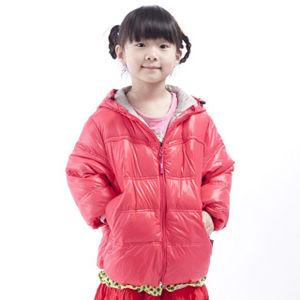 JORDON兒童超輕連帽羽絨夾克(204 紅莓/中灰)_網