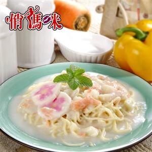 《俏媽咪》奶香鮭魚白醬x5包( (即食料理)-任網