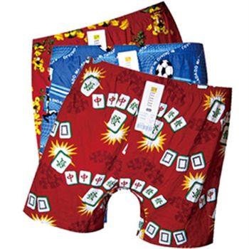 【Mr.DADADO】BOXER平口印花四角褲3件超值組