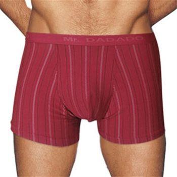 【Mr. DADADO】休閒系列素面條紋平口四角褲兩件組(純熱紅)