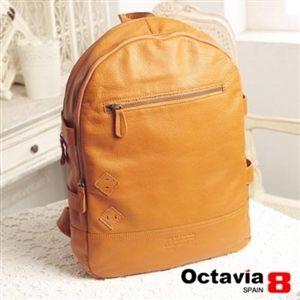 OCTAVIA 8 真皮-SOFTY水洗羊皮揹包客後背包-古堡棕