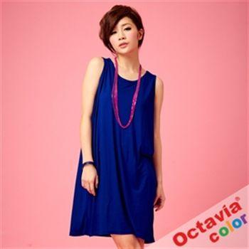 【OCTAVIA COLOR】 靚藍露肩洋裝(含項鍊)-SEXY藍