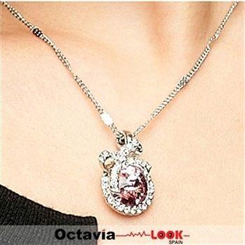 【Octavia Look】好人緣蝴蝶結粉晶項鍊