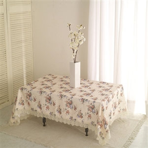 【巴芙洛】小玫瑰蕾絲桌巾120cmx170cm