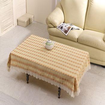 【巴芙洛】圓滿快樂蕾絲桌巾120cmx120cm