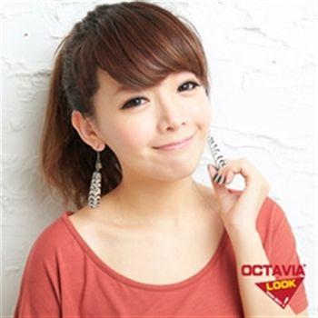 【OCTAVIA LOOK】三角木動物紋耳飾-斑馬