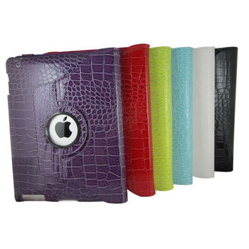 iPad4旋轉皮套【L23華麗款-淺藍】