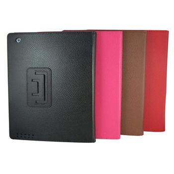 iPad4平板保護皮套【L26荔枝款-紅色】