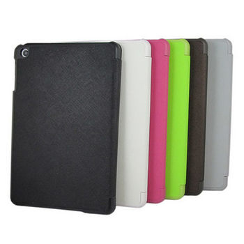 iPad mini平板立架皮套【M7十字紋-蘋果綠】