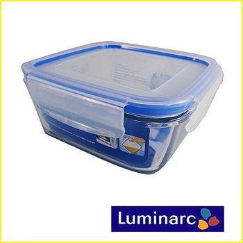 【法國樂美雅】 PURE BOX四面扣方形玻璃保鮮盒 760ml