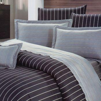 【KOSNEY】 風範典雅 雙人AB版活性精梳棉床包被套組台灣製