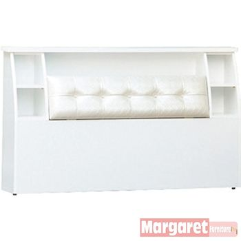 【Margaret】美樂靠墊型雙人5尺床頭箱(3色可選)