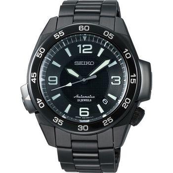 SEIKO Prospex 4R35 冒險家運動機械腕錶-IP黑