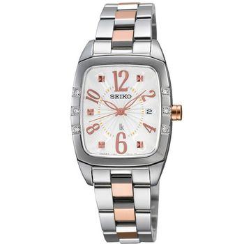SEIKO LUKIA 光采自我酒桶型真鑽腕錶(7N82-0HK0