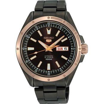SEIKO 4R36 運動玩家機械腕錶-IP黑