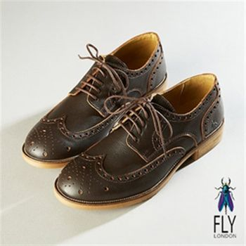 Fly London(男)★ 花花公子義式手工雕花牛津鞋-品味咖