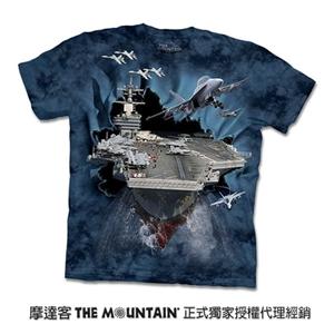 【摩達客】美國進口The Mountain突破航空母艦T恤-女/童