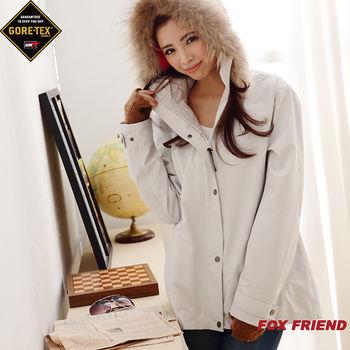 FOX FRIEND女款 單件式外套(1090 灰白)_網