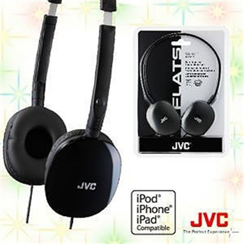 JVC HA-S160 輕型頭戴式耳機(黑)