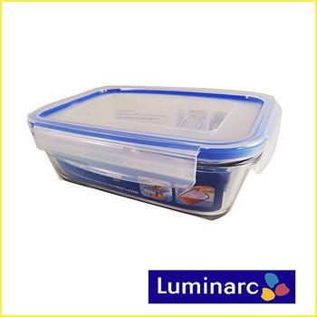 【法國樂美雅】 PURE BOX四面扣長方形玻璃保鮮盒1220ml