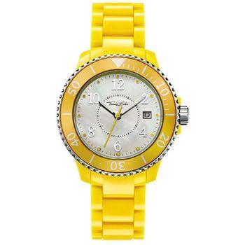 Thomas Sabo 繽紛彩漾珍珠貝腕錶(WA0113)-黃