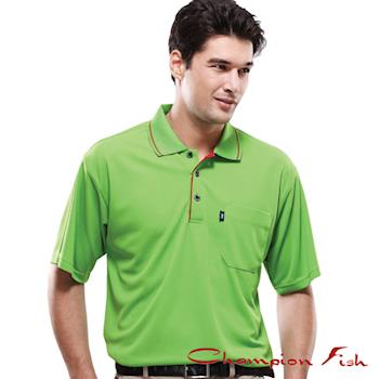 【Champion Fish】男士簡約排汗POLO衫-翠綠色