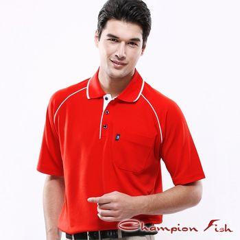 【Champion Fish】男士經典排汗POLO衫-紅色