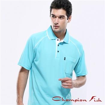 【Champion Fish】男士經典排汗POLO衫-薄荷色