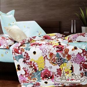 【情定巴黎】百花蜜園-加大8件式精梳棉床罩組