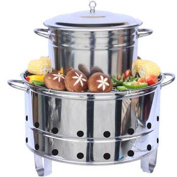 多功能桶仔雞烤肉架組-烤雞/營火/烤肉/燉補