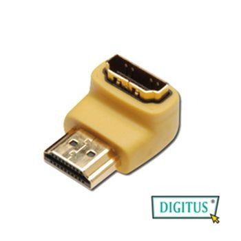 曜兆DIGITUS~HDMI專用鍍金直角接頭(公對母)