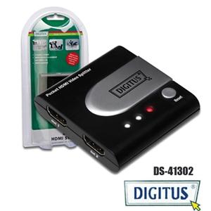 曜兆DIGITUS HDMI 一進二出分配器-DS-41302
