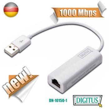DIGITUS USB2.0超高速網路卡-支援MAC系統