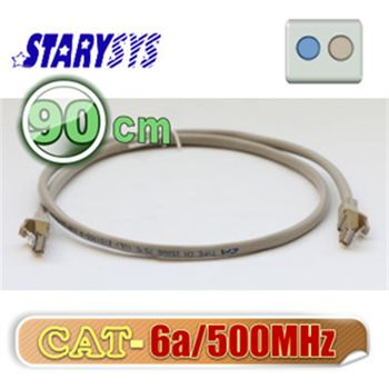 STARY高級線材 金屬防磁包覆接頭網路線90公分-灰