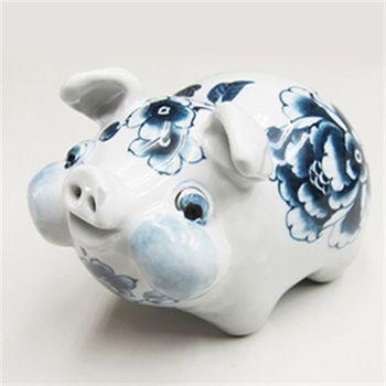 【青花皇后楊莉莉】手繪系列-陶瓷造型豬