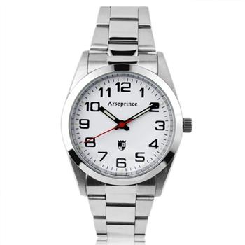 【Arseprince】學院世代潮流中性錶-白色